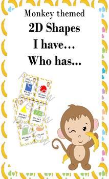 2D Shapes I have... Who has... : Monkey theme