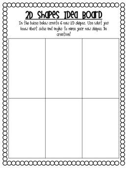 2D Shapes Idea Board