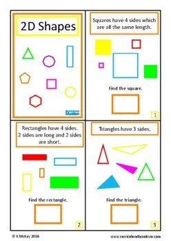 2D Shapes Interactive Adapted Math Book, Autism, Special Education