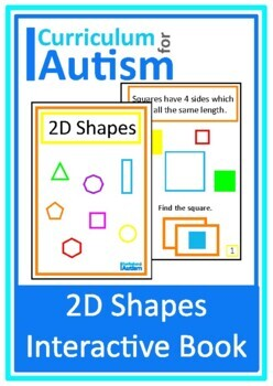 2D Shapes Interactive Book Autism Special Education