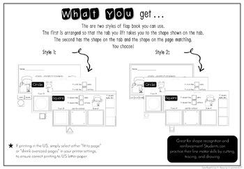 2D Shapes Interactive Flip Book