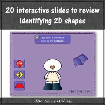 2D Shapes ~ Interactive Math Game {Dress the Snowman}