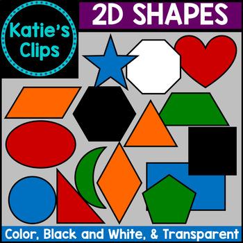2D Shapes {Katie's Clips Clipart}