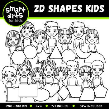 2D Shapes Kids Clip Art