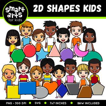 2D Shapes Kids Clipart
