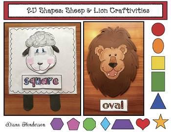 2D Shapes: Lion & Lamb Craft, Activities & Games