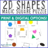 2D Shapes Worksheet Alternatives, Activities, Games, or Math Centers