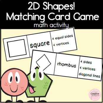 2D Shapes Matching Cards
