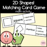 2D Shapes Matching Cards Math Game for Kindergarten