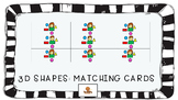 3D Shapes Matching Cards
