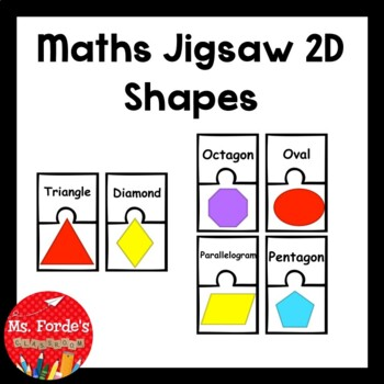 2D Shapes Matching Jigsaw Game
