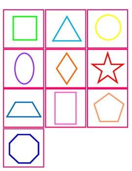 2D Shapes-Matching Shape to Word FREEBIE :)