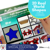 2D Shapes Math Assessment for Special education - Digital