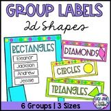 Math Group Labels   2D Shapes