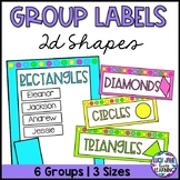 2D Shapes Math Group Labels