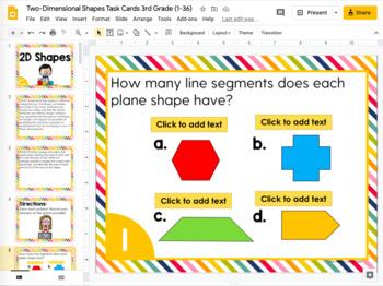 2D Shapes Math Task Cards (3rd Grade)
