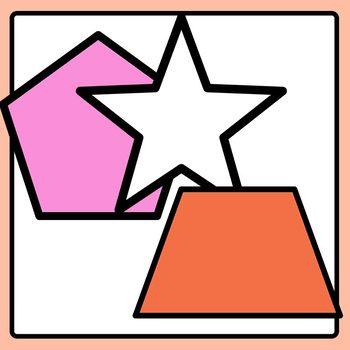 2D Shapes Mega Pack (165 Images!) for Sorting Math Clip Art Commercial Use