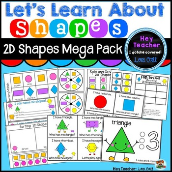 2-D Shapes Activities, Games, Centers, & Worksheets {Geometry}