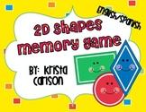 2D Shapes Memory Game (Bilingual)