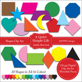 2D Shapes Moveable Clip Art for Paperless Resources