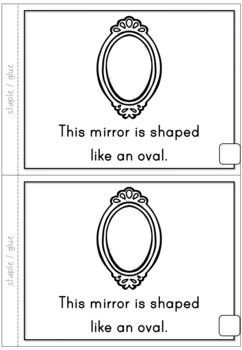 2D Shapes Oval Emergent Reader