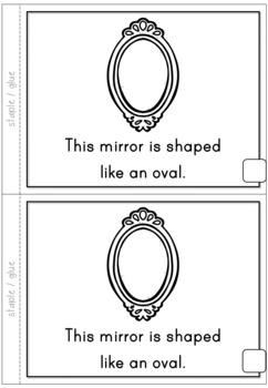 2D Shapes Oval Emergent Reader