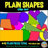 2D Shapes (PLAIN Shapes) Clip Art for Teachers