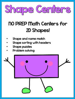 2D Shapes Pack - NO PREP Math Centers - Small Group Work!