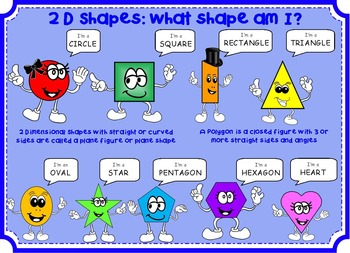 2D Shapes Pack: Posters, Game & Worksheets: sides, polygons, triangles & lines