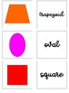 2D Shapes Partner Cards Matching Game