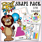2D Shape Activities ● Party Animal 2D Shape Pack