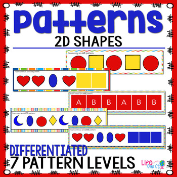 2D Shapes Pattern Pack | Shape Patterns | Math Centers