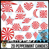 2D Shapes: Peppermint Candies   Christmas Candy