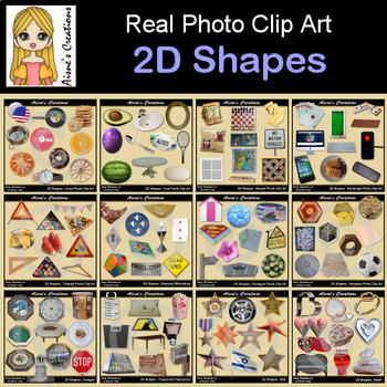 2D Shapes Real Photo Clip Art Growing Bundle