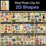 2D Shapes Real Photo Clip Art Bundle