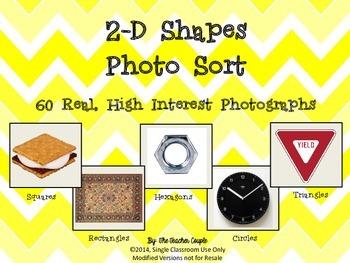 2D Shapes Photo Sort