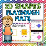 2D Shapes Playdough Mats