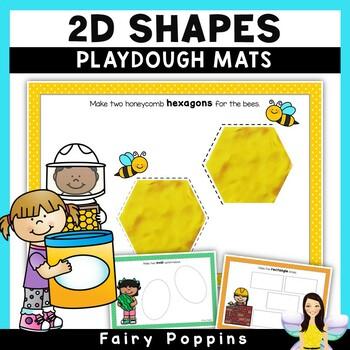2D Shapes Playdough Mats (Real World Objects)