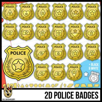 2D Shapes: Police Badges
