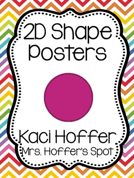 2D Shapes Poster {Bright Apple Chevron}