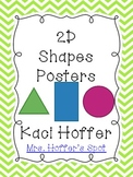 2D Shapes Poster {Chevron Print}