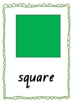 2D Shapes Poster Display - Bright Colours