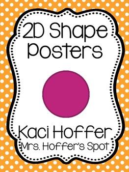 2D Shapes Poster {Little Polka Dots}