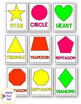 Bright, Neon 2D Shape Posters
