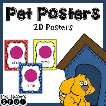 2D Shapes Poster {Paw Print}