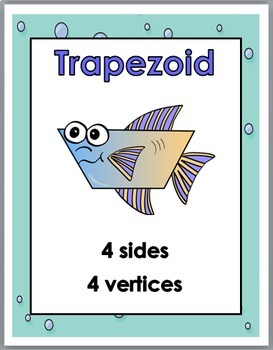 2D Shapes Posters – Ocean Theme Classroom Decor