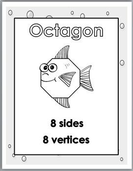 2D Shapes Posters – Ocean Theme Classroom Decor