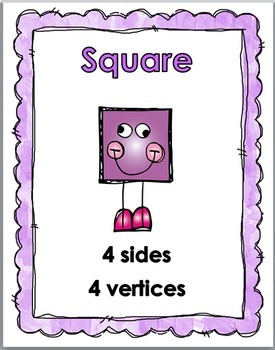 2D Shapes Posters with Attributes & Real-World Examples
