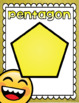 2D Shapes Poster Signs Emoji Smiley Face Theme