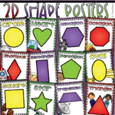 2D Shapes Poster Signs Outer Space Theme